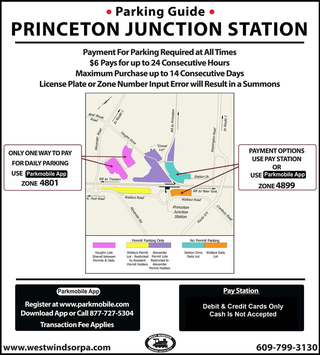 Daily Parking | Princeton Junction Train Station | West Windsor